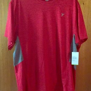 Red active shirt